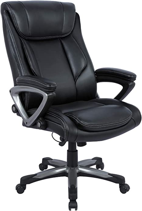 Amazon Com Statesville Big Tall 400lb Office Chair Adjustable Tilt Angle Thick Padding And Ergonomic Design Pu Leather Executive Desk Computer Task Swivel Chair Lumbar Support Kitchen Dining