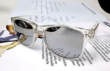 Wayfarer 80er Jahre Geek Designer Schwarz Rahmen Ski Sonnenbrille Brille Silber verspiegelt i3hmfWMhU