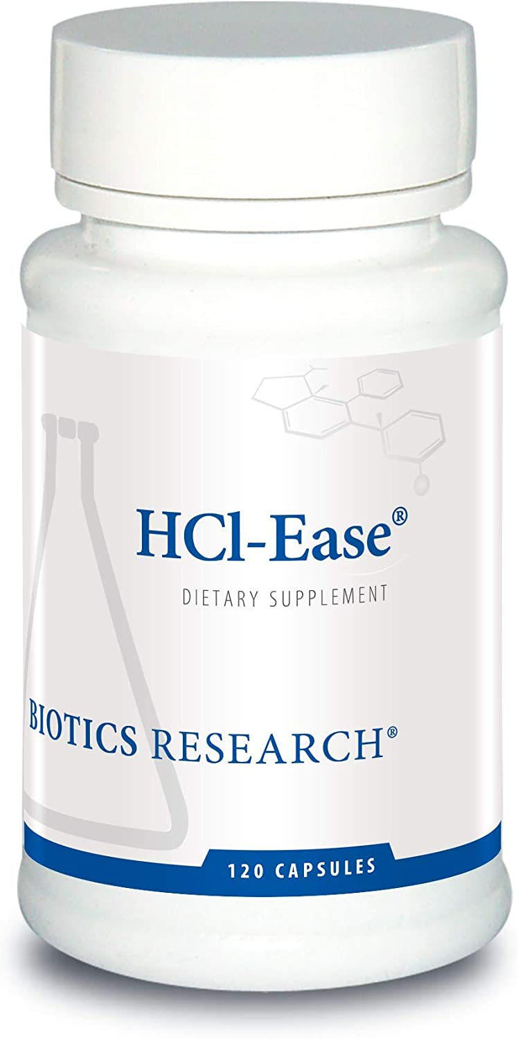 HCl-Ease Digestion Intestine and Inflammation Support – Gluten Free Dietary Supplement by Biotics Research 120c