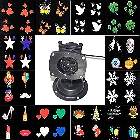 SOLLA LED Projector Lamp Waterproof Night light 12 Replaceable Slides Contain Christmas,Halloween,Birthday,Party or Festival Decoration
