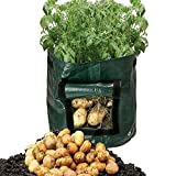 Potato Grow Bags,Xpatee 2-Pack 7 Gallon Garden Potato Grow Bag Vegetables Planter Bags with Handles and Access Flap for Potato, Carrot & Onion