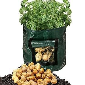 hokoacc 2Pack bolsas de cultivo de patata, creciendo verduras: patata, zanahoria, tomate, y cebolla
