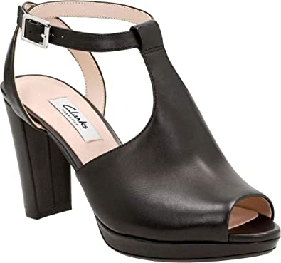 c74b97da45e CLARKS Women s Kendra Charm Peep Toe Ankle Strap Sandal