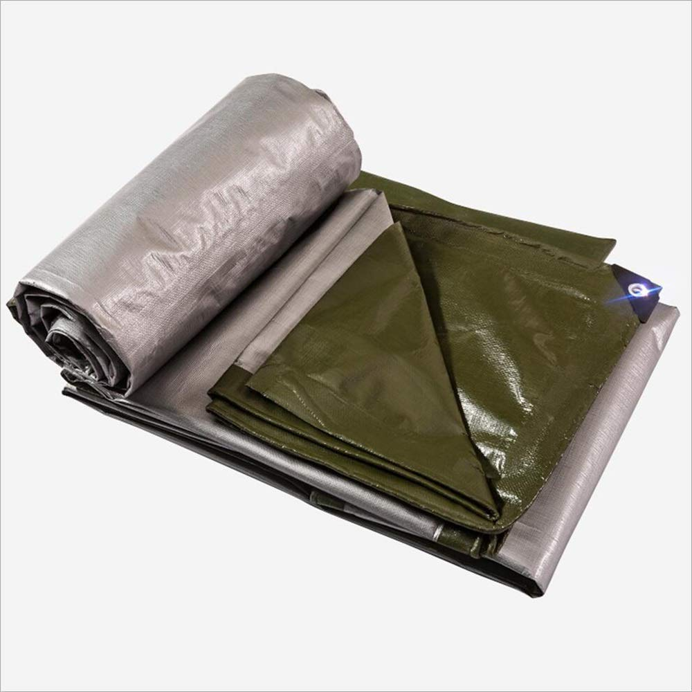 TARPAULIN argento cerata impermeabile telone esterno tenda telone tela tela 250G   m2, 1.5m-12m (dimensioni   2mx2m)