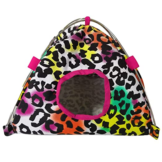 Amazon com: vmree Colorful Canvas Tent for Hamster Parrot