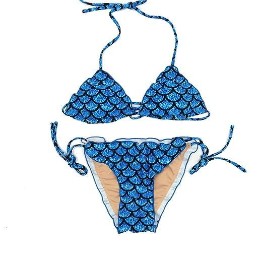 Conjuntos de Bikini Bikini de dos piezas con estampado de escamas ...