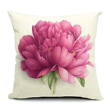 Amazon.com : Cubierta de Almohada Funda Cojin Estampado Flor ...