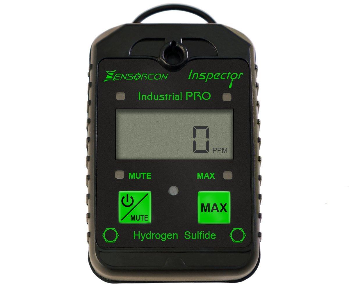 Sensorcon H2S Industrial Pro, Hydrogen Sulfide Detector, Adj. Alarm Points. Measures H2S 0-400 ppm, Waterproof, 2-year warranty, Made in USA by Sensorcon