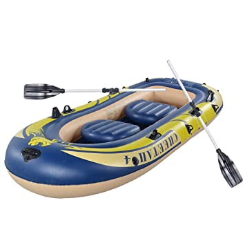 Amazon.com: Chranto Lucky 7 3 Personas Inflable Barco Kayak ...