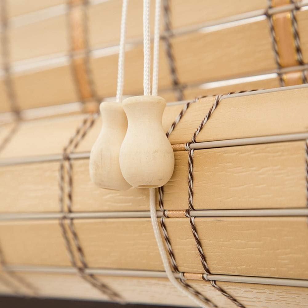 Persiana de bambú Persianas Enrollables De Primera Calidad Cortinas Enrollables para Interiores/Exteriores, Color Caqui, Patio/Gazebo/Pérgola/Marquesina Techada, 85cm / 105cm / 125cm / 145cm D: Amazon.es: Hogar