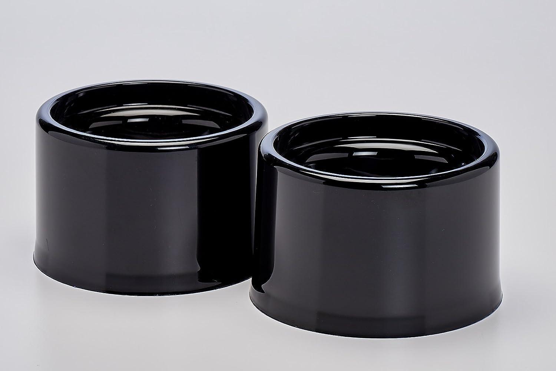 Black Buddeez 02702-BLK-ONL Metal and BPA Free Pet Bowl, Black