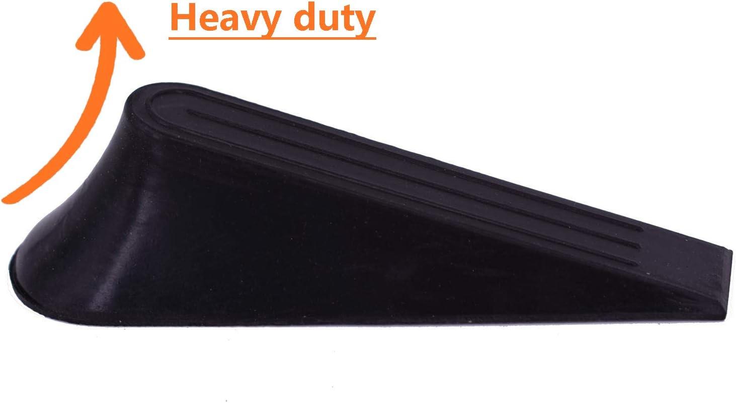 Rubber Door Stopper Multi Surface Anti Slippery Door Stop with Heavy Duty Design Flexible and Weddge Non Scratching Door Holder