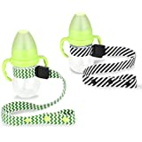 Baby Sippy Cup Strap by Accmor, Adjustable Bottle/Cup Strap, Toddler Drink and Baby Bottles Holders and Toy Clips, Stroller, High Chair and Car Seat Universal Attachment Strap (2 Pack)