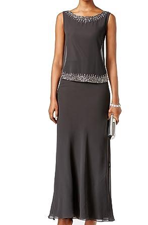 fd6099caf295 J Kara Womens Chiffon Beaded Formal Dress at Amazon Women's Clothing ...
