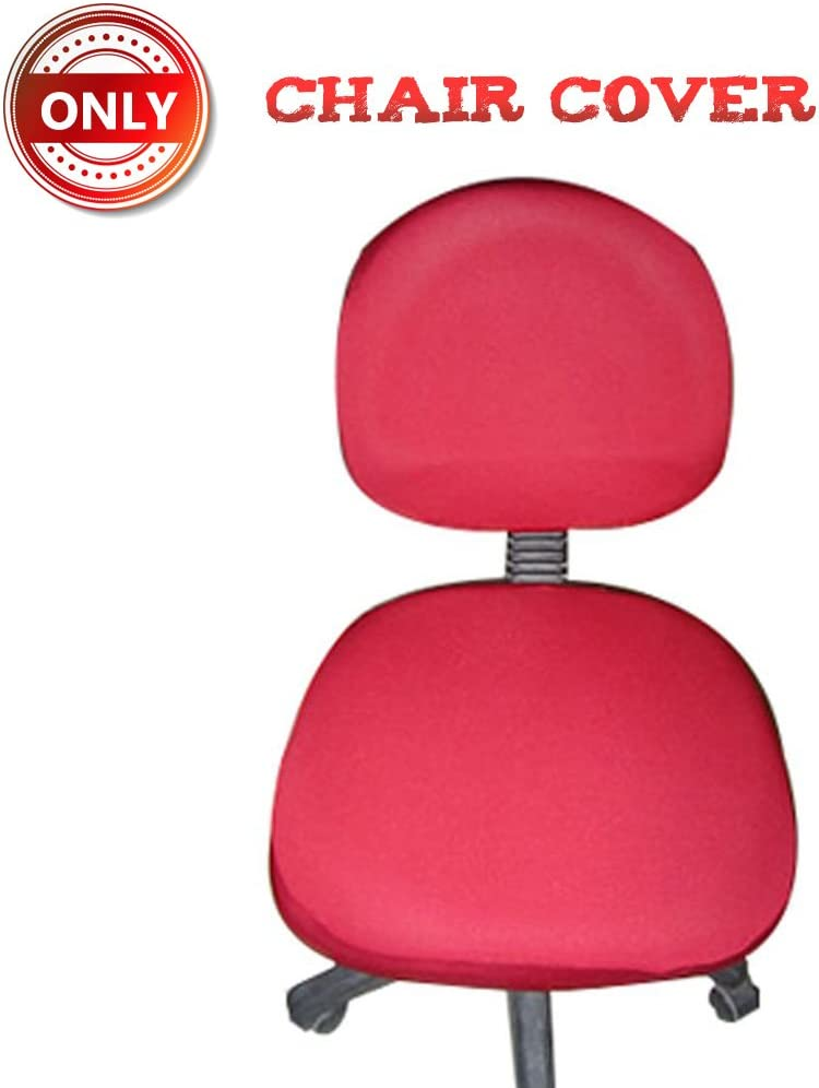 A.B Crew Computer Office Chair Cover Pure Color Universal Chair Cover Stretch Rotating Chair Cover(Red)