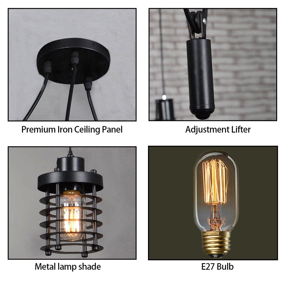 Amazon.com: Vintage araña de techo luz de la lámpara ...