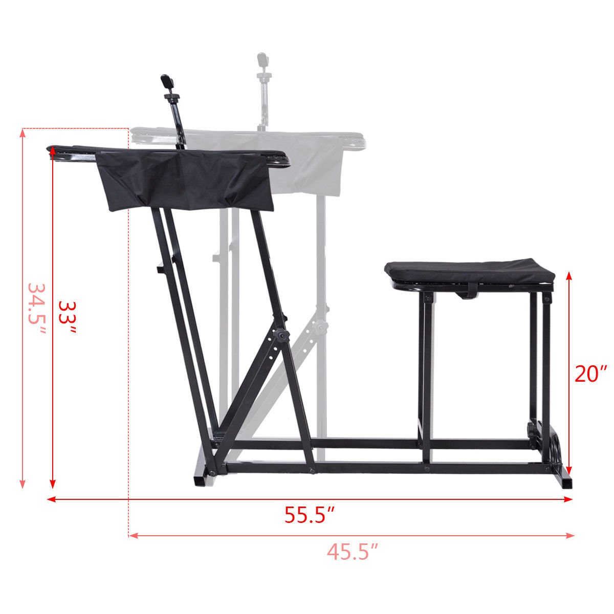 Folding Shooting Bench Seat with Adjustable Table Gun Rest Height Adjustable by BUY JOY (Image #7)
