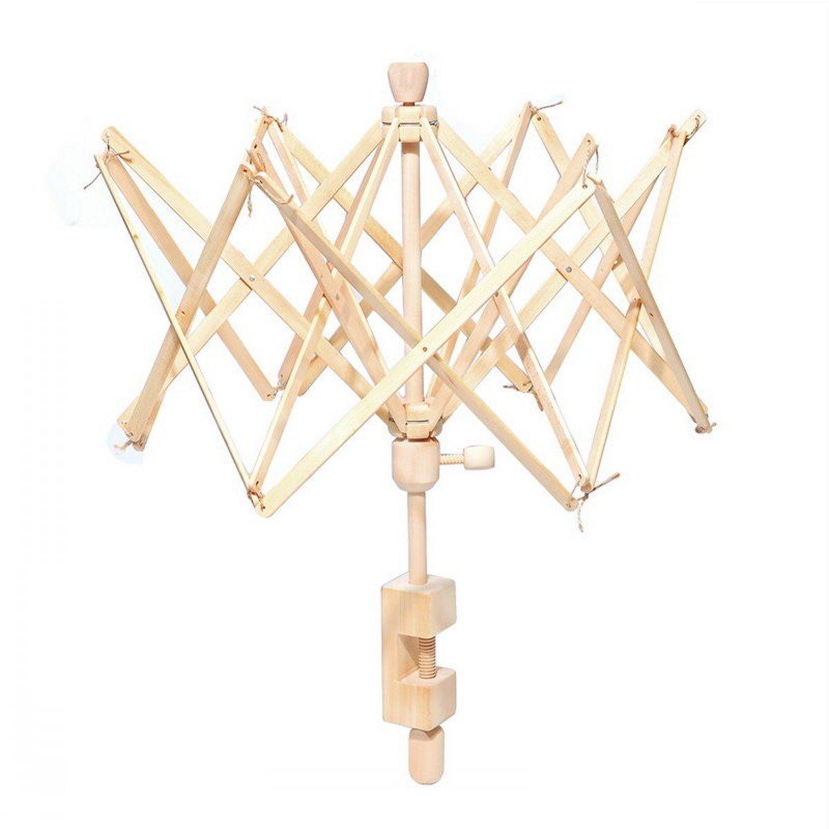 CHENGYIDA 1 Birch wooden Needlecraft Wooden Umbrella Swift Yarn Winder, Medium