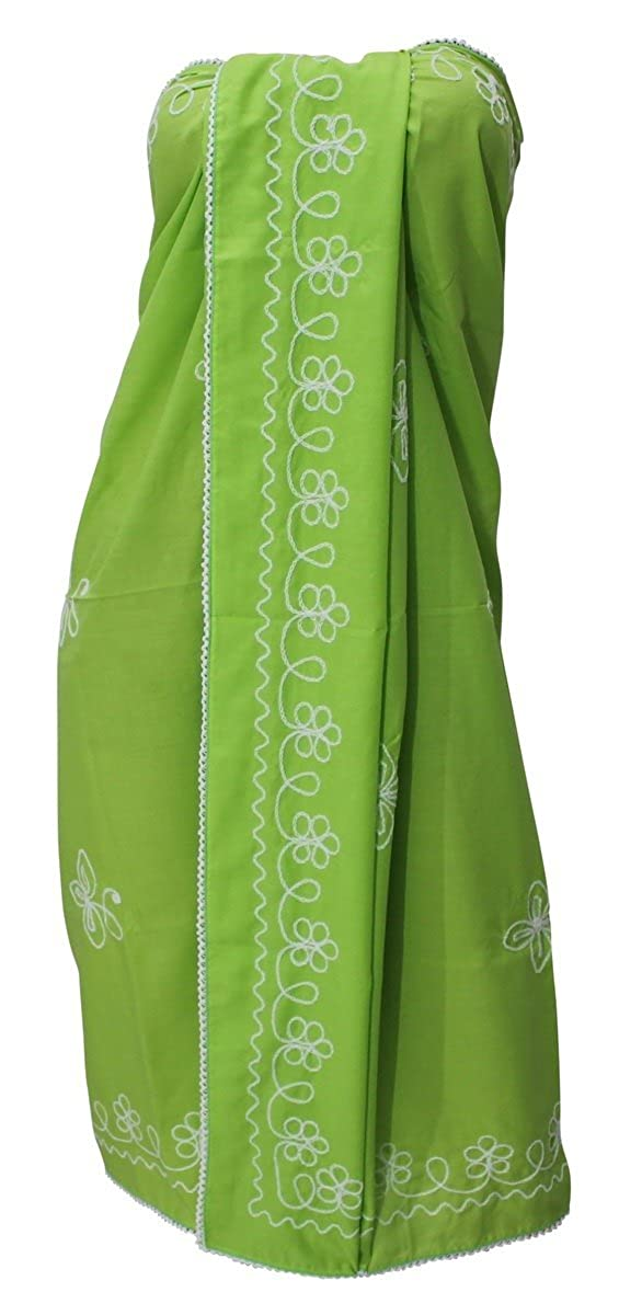 LA LEELA Rayon Costumi da Bagno Involucro Pareo Lunghi Ragazze Sarong Solido
