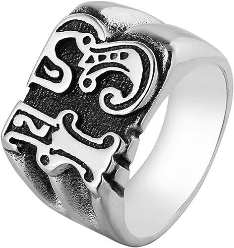 Stainless Steel Men/'s Eternity Band Chain Biker Ring Size 8-13