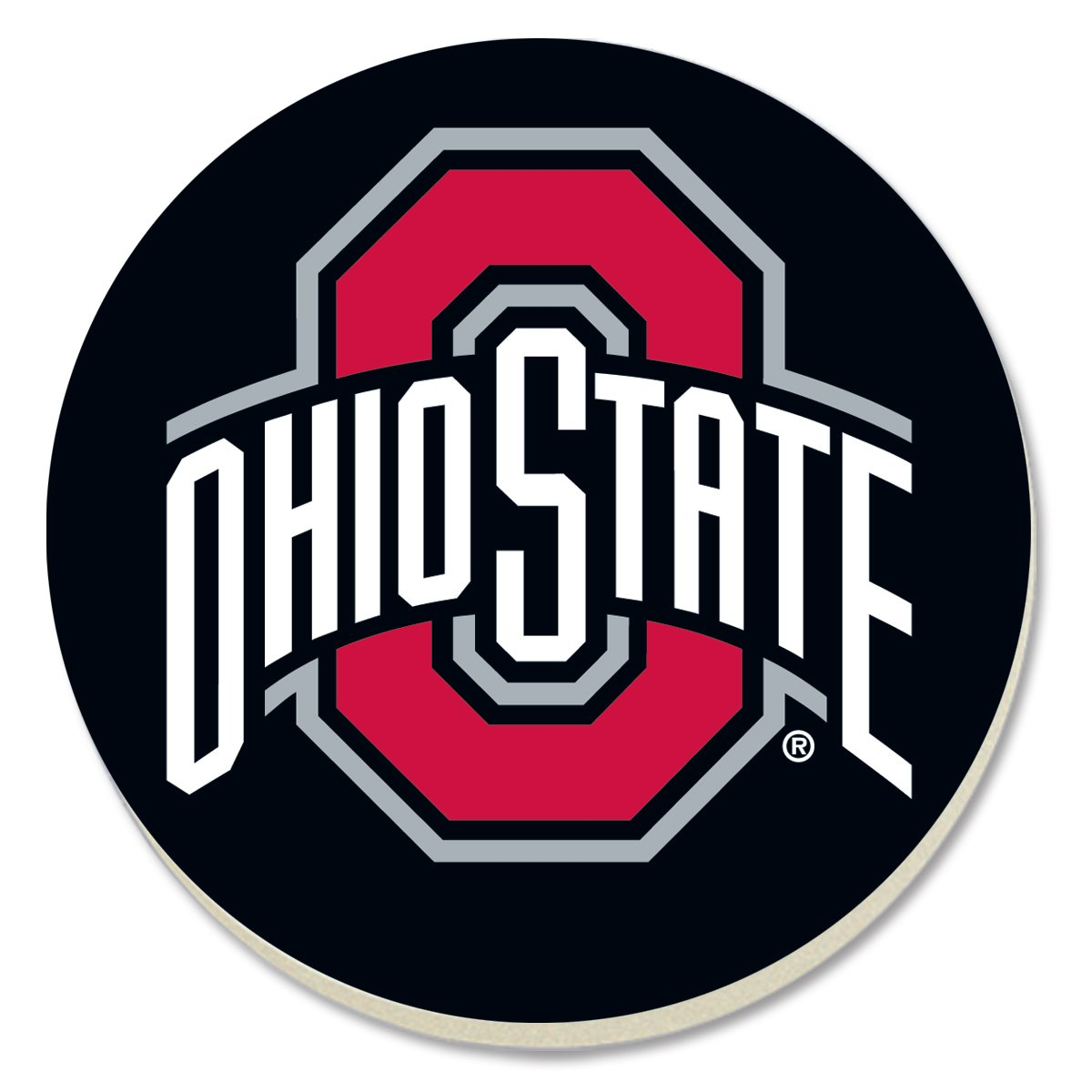 (Ohio State) - Counter Art Absorbent Round Collegiate Coasters (Set of 4) (Ohio State)  Ohio State B074WMGQPK