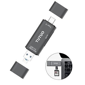 QULLOO Lector de Tarjetas SD/Micro SD (TF) USB Tipo C, Micro ...