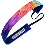 Toucan Play at That Game – Purple Multi-Colored – Sweaty Bands Non-Slip Fitness Headband – 1-Inch Wide
