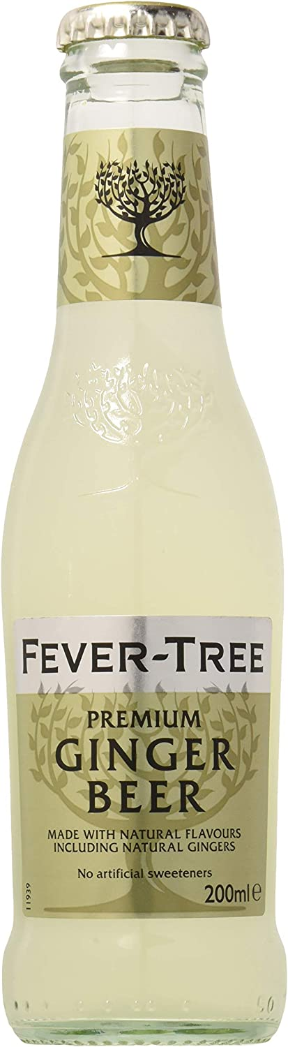 Fever-Tree Ginger Beer 4 x 200 ml (Pack of 6, Total 24 Bottles)