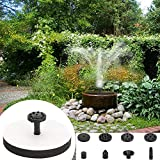 win-full Solar Fountain,Solar Fountain Pump Bird Bath 1.5W Square Solar Fountain Water Pump with Frame Outdoor Birdbath Watering Submersible Pump for Pond, Garden and Patio
