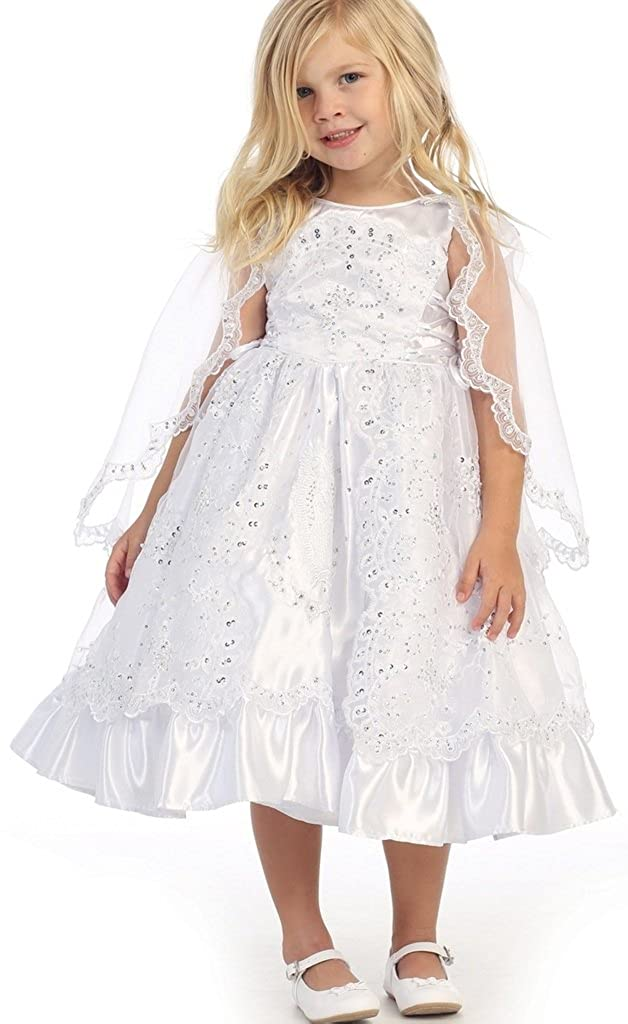 01739596f42 Amazon.com: Little Girls Our Lady Guadalupe Embroidered Baby Christening  Dresses: Clothing
