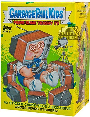 Garbage Pail Stickers (2016 Topps GPK Garbage Pail Kids Card Stickers Series 2 Trashy TV Blaster Box - 4 packs of 10 cards)