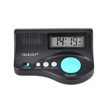 (Español) reloj de alarma de habla española reloj de conversación para ciegos y personas mayores, hora del anuncio