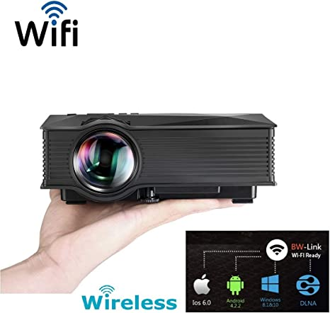 novhill Proyector de vídeo WiFi HD LED, novhill Mini proyector ...