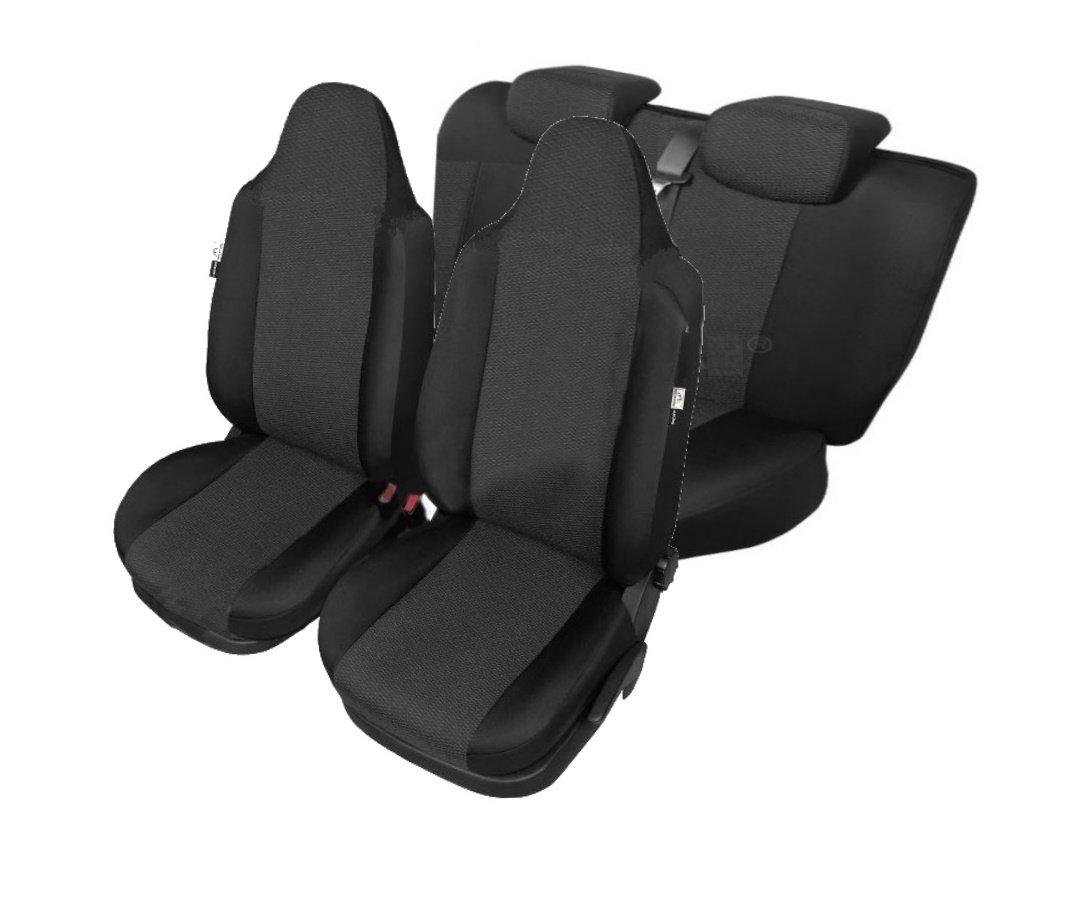 Sitzbezüge Schonbezüge SET EC Mercedes Vito Stoff dunkel grau