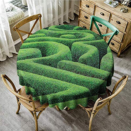 DONEECKL Dust-Proof Tablecloth Garden Green Plant Maze Growth Ecology and Nature Theme Labyrinth Landscape Outdoors City Park Party D51 Green]()