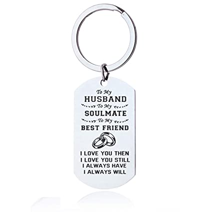 Amazon To My Wife Husband Boyfriend Girlfriend Dog Tag Military Keychain NecklaceValentines Day Birthday Gifts For Women Men