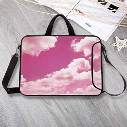 Briefcase Messenger Shoulder Bag for Men Women College Students Business People Office Workers Laptop Bag Abstract Hand Painted Rainbow 15-15.4 Inch Laptop Case