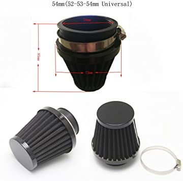 38//39//40mm Air Filter Motorcycle Engine Parts Replacement Washable Universal Fit