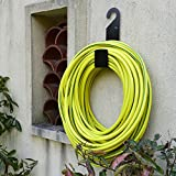 Best Black Garden Hose Holder wall mount-Durable , very powerful hanger it can hold 100ft heavy hose -keep your backyard neat and clean