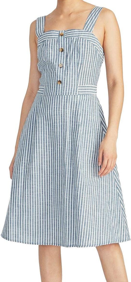 High order Rachel Roy Womens Rylnne Dress discount Striped Button-Front Cotton