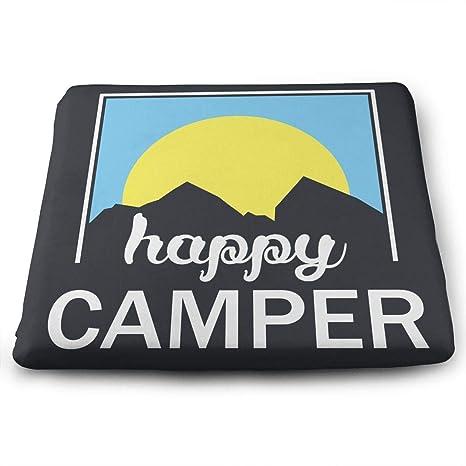Happy Camper Sunrise Cojín Cuadrado para Asiento con Relleno ...
