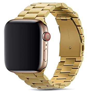 Tasikar para Correa Apple Watch 42mm 44mm Metal de Acero Inoxidable Correa de Repuesto Compatible con Apple Watch Series 4 (44mm) Series 3 Series 2 ...