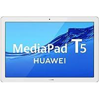 """HUAWEI MediaPad T5 - Tablet de 10.1"""" FullHD (Wifi, RAM de 3GB, ROM de 32GB, Android 8.0, EMUI 8.0), Color Blanco y oro"""