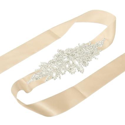 King Do Way cinturón para vestido de novia con pedrería, cristal