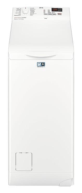 AEG L6TB40260 Waschmaschine Toplader / 6,0 kg / Mengenautomatik / Nachlegefunktion / Kindersicherung / Wasserstopp / 1200 U/m