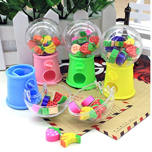 HKJYC Gashapon toy Fruit shape toy stationery eraser children's gift toys Originality by HKJYCstore (Image #4)