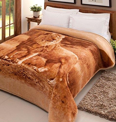 Cobertor Pelo Alto Leão Jolitex Multicor Poliéster