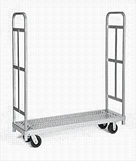 """product image for Raymond Products 3986 Narrow Tall End Truck - 5"""" Swivel Phenolic Casters - 2 Uprights"""
