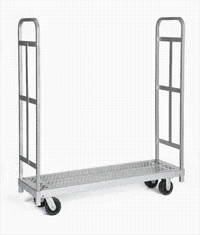 Raymond 3985 Steel Heavy Duty Narrow Panel Sheet Mover Platform Truck with 2 Uprights and 5