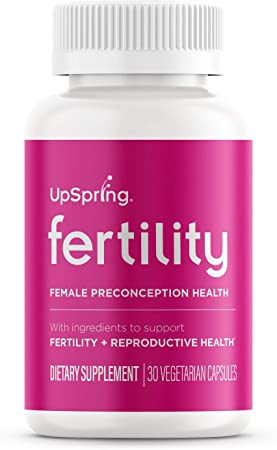 UpSpring Fertility Capsules for Women with Black Cohosh, Maca Root and Shatavari, Preconception Supplement